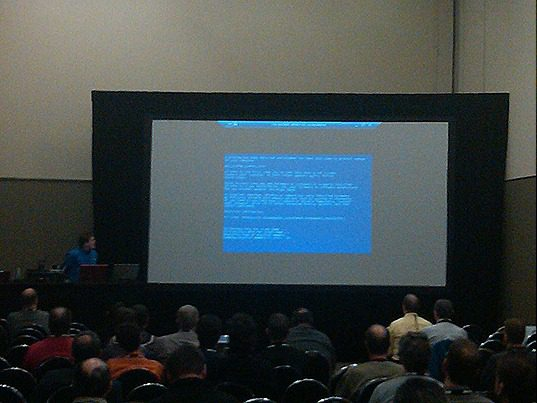 Blue Screen of Death in WINRE TechDays Demo