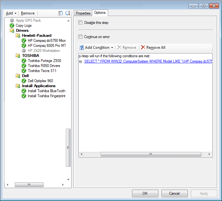 System Center Configuration  Manager SCCM Task Sequence Drivers